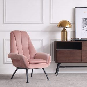 Rosy Pink Armchair