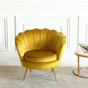 gold velvet armchair