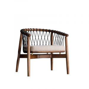 Walnut Wooden Armchair