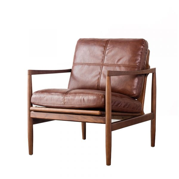 Wooden Lounge Chair With Cushion