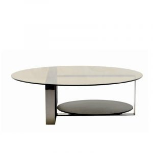 Grey Glass Coffee Table Console