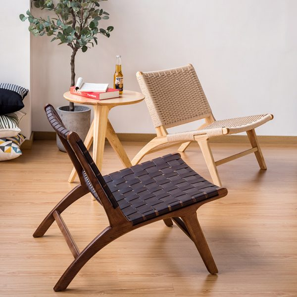 Wooden Lounge Chair Armless