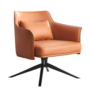 Swivel Leather Lounge Chair