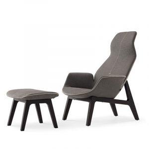 High End Lounge Chair And Ottoman