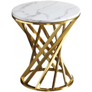 Small Round Marble Top Side Table