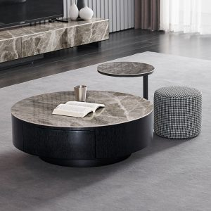 Round Coffee Table With Stool